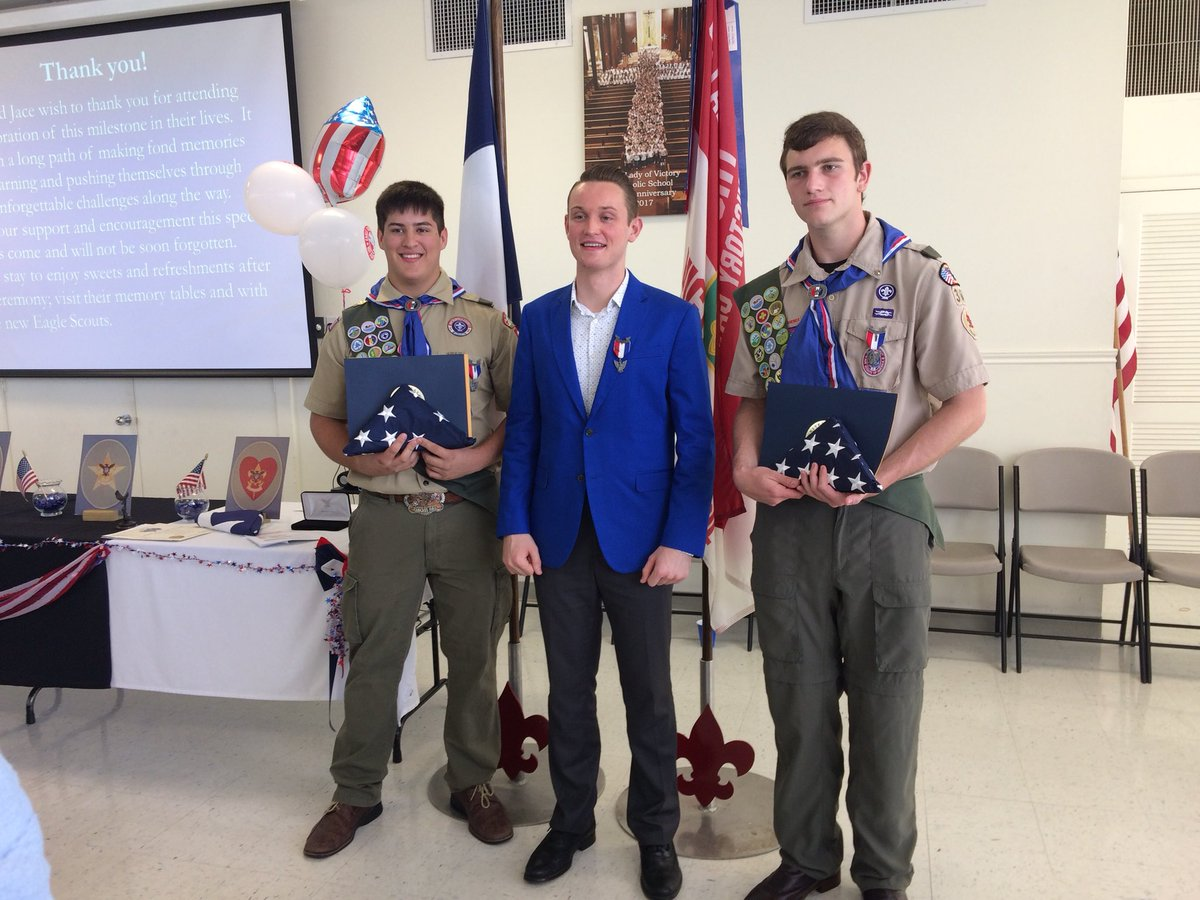 Today, Greg McCarthy from my office, who is also an Eagle Scout, presented new Eagle Scouts Jace Stevens and Aaron Bradicich with a flag flown over the U.S Capitol and a letter from me in honor of their great achievement in reaching Scoutings' highest rank.