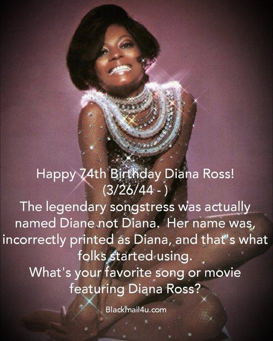 Happy Birthday 74th  Diana Ross!
