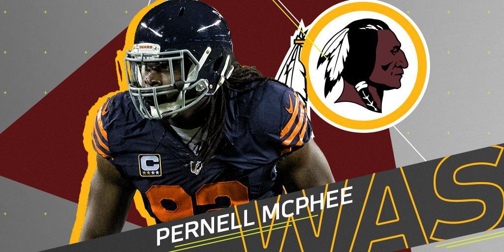 .@Redskins sign former Bears LB Pernell McPhee: https://t.co/LxCucsboVB https://t.co/jLyR68GC0Q