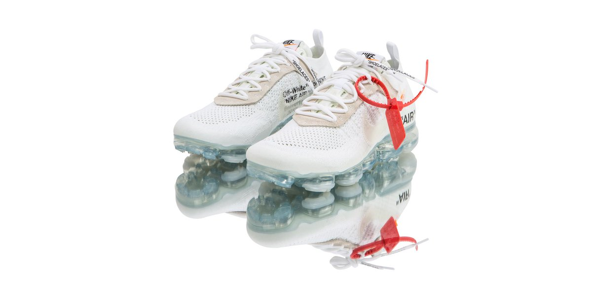 4918c0fcb628b Virgil Abloh revisits the VaporMax by adding an icy blue outsole and a  pristine white upper