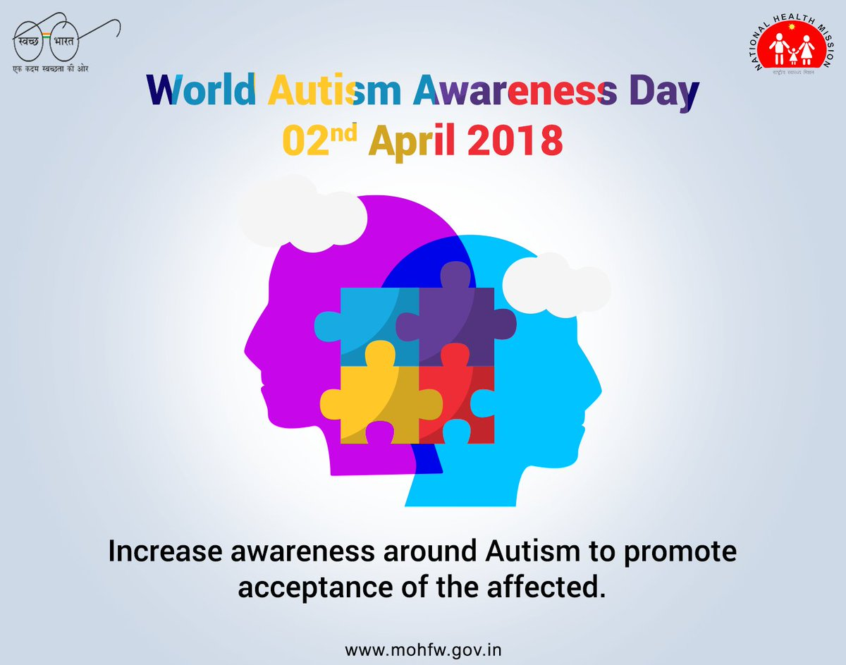 Ministry of health on twitter the world is a loud overwhelming autism is not a tragedy unless it is treated like one extend your support towards its awareness swasthabharat worldautismawarenessdaypicitter buycottarizona Image collections
