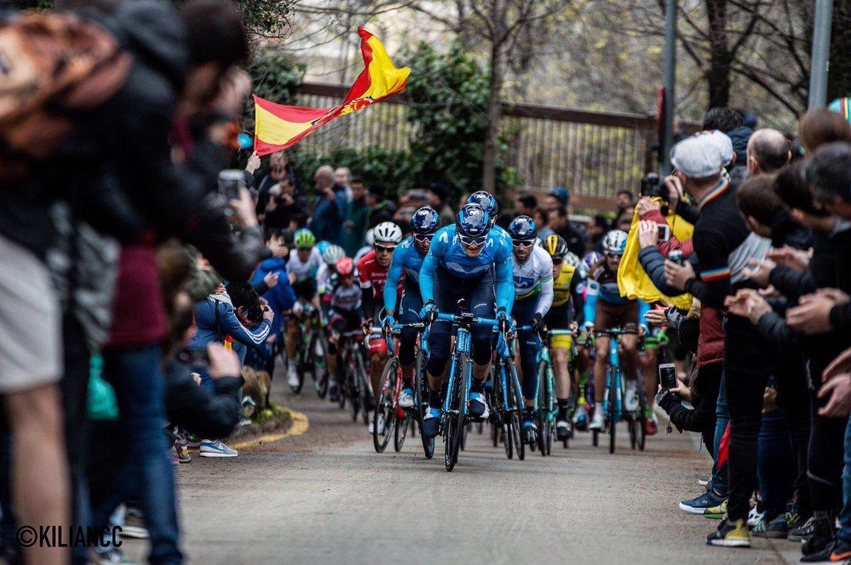 Última etapa vuelta a Cataluña tirando del carro 😅📸@KilianCtedra