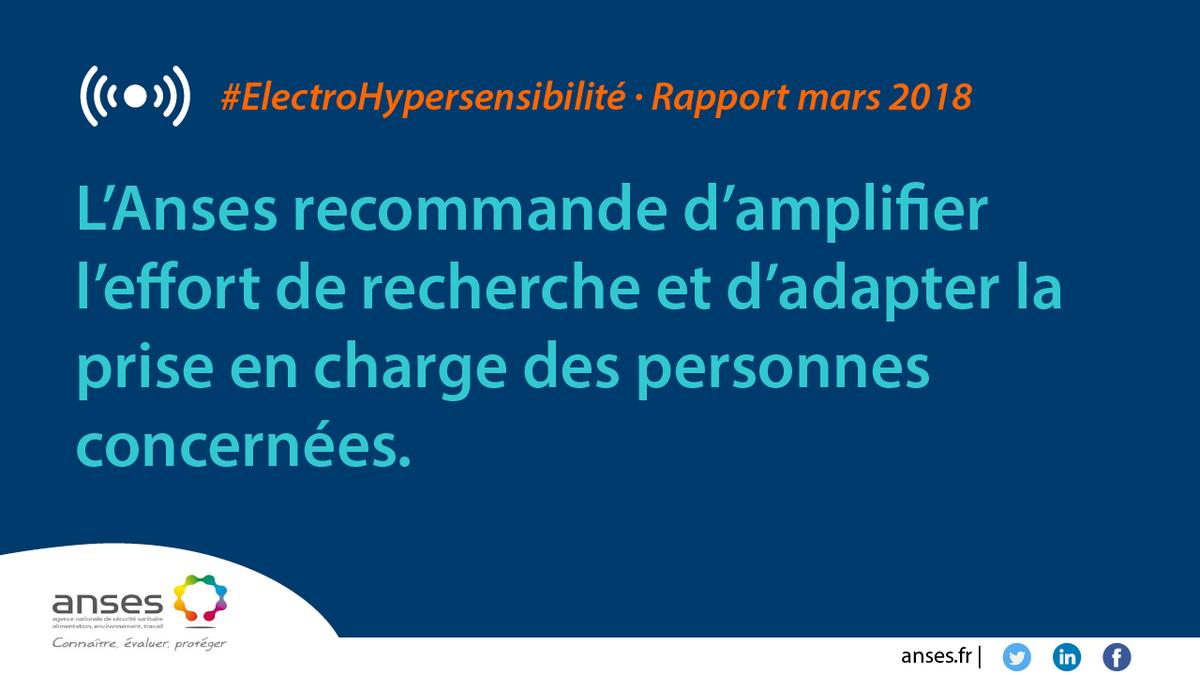 [#ElectroHypersensibilité] L'@Anses_fr publie les résultats de son expertise relative à l'hypersensibilité aux ondes électromagnétiques. ➡http://bit.ly/2pI1v9S
