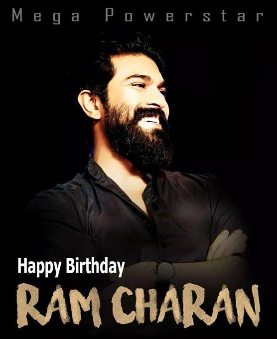 Wishing A very happy birthday to Mega Power Star Ram Charan .