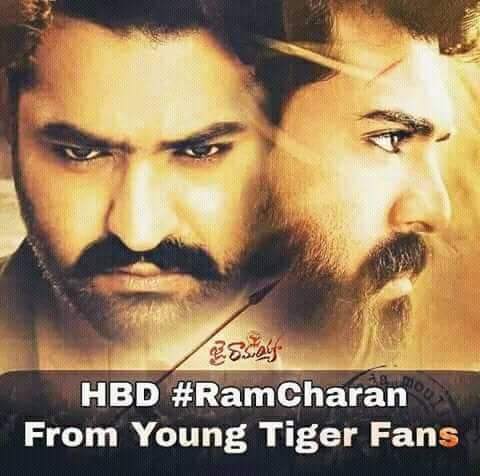 Happy birthday Ram charan garu behalf of Ntr fan\s