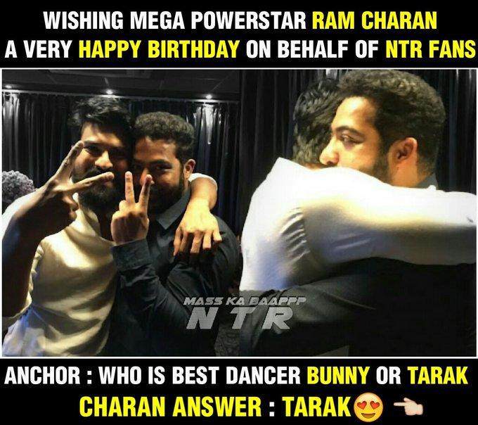 Wishing Ram Charan garu a very very happy Birthday