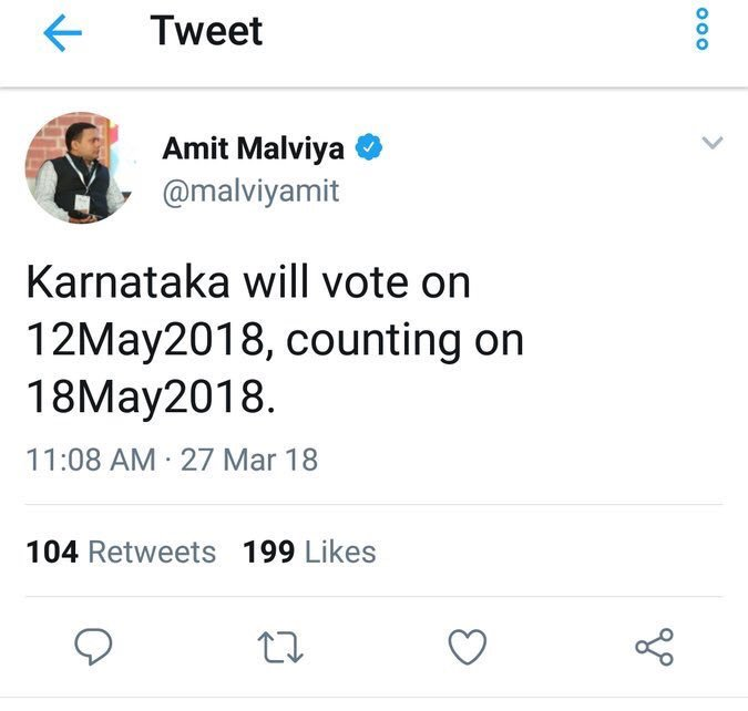 Karnataka election 2018 dates announced
