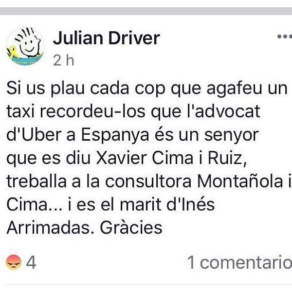 A LOS TAXISTAS QUE VOTAIS A CIUDADANOS:...