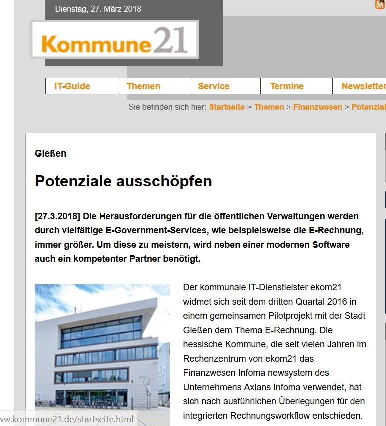Ekom21 On Twitter Zugferd Oder X Rechnungsformat Stadt Gießen