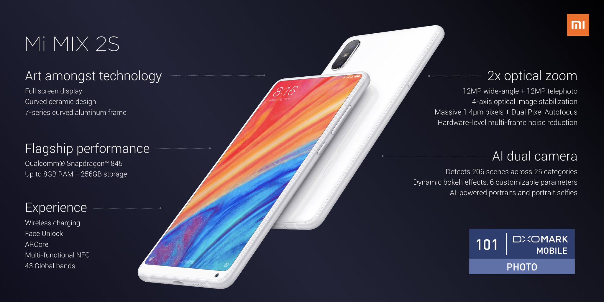 Xiaomi Mi Mix 2S Features, Specifications, Price and Release Date