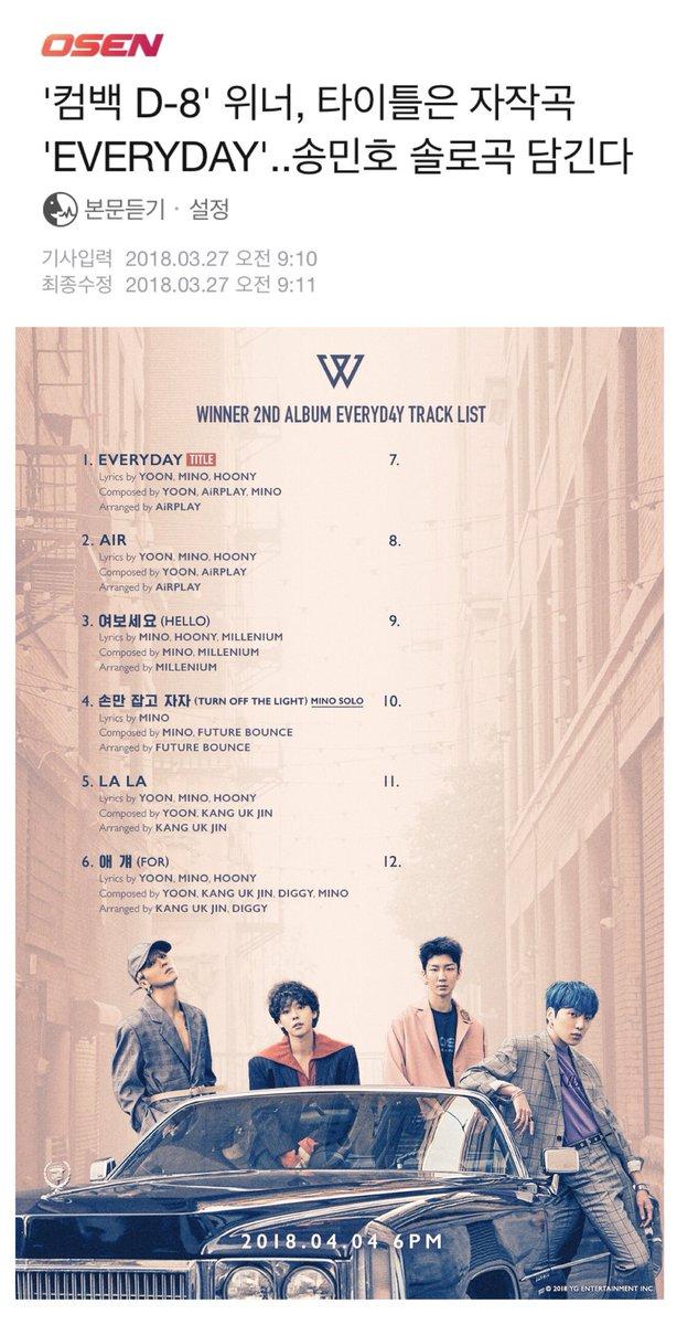 WINNER 2nd ALBUM Articles