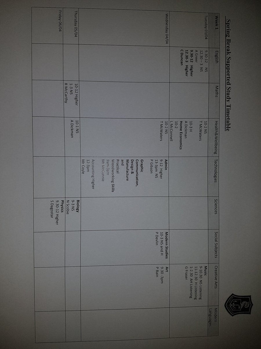 Bella Attain On Twitter Easter School Timetables Issued Hope To See Lots Of You Over The Break Making Use Supported Study