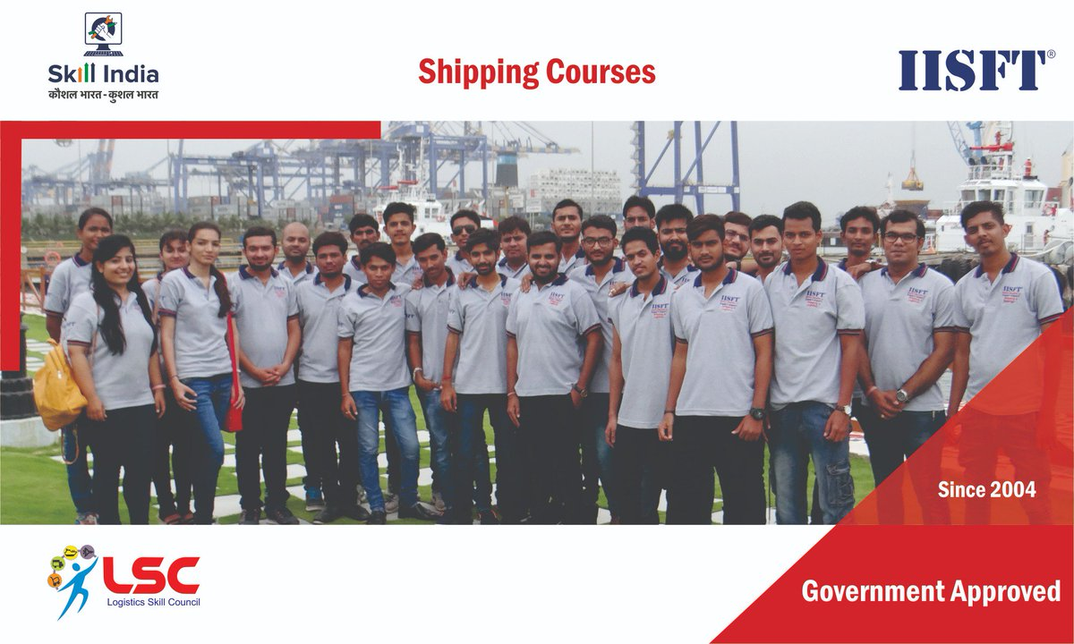 Join JOB ORIENTED courses on Shipping under #SkillIndia. New batches start from 26th April 2018. For details click here https://t.co/vTLmZAEMca or call us on 9033756583 #IISFT #GovernmentApprovedShippingCourses #LogisticsSkillCouncil #LSC #LSCShippingCourses #ShippingCoursesLSC https://t.co/mYmiAoZLIf