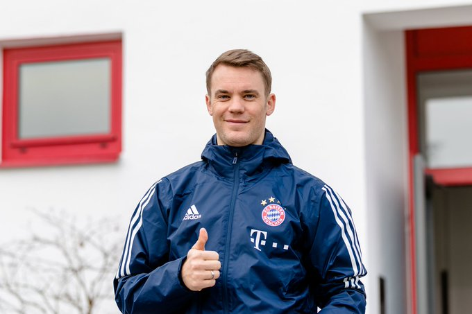 Happy Birthday Manuel Neuer Also back in training for Bayern