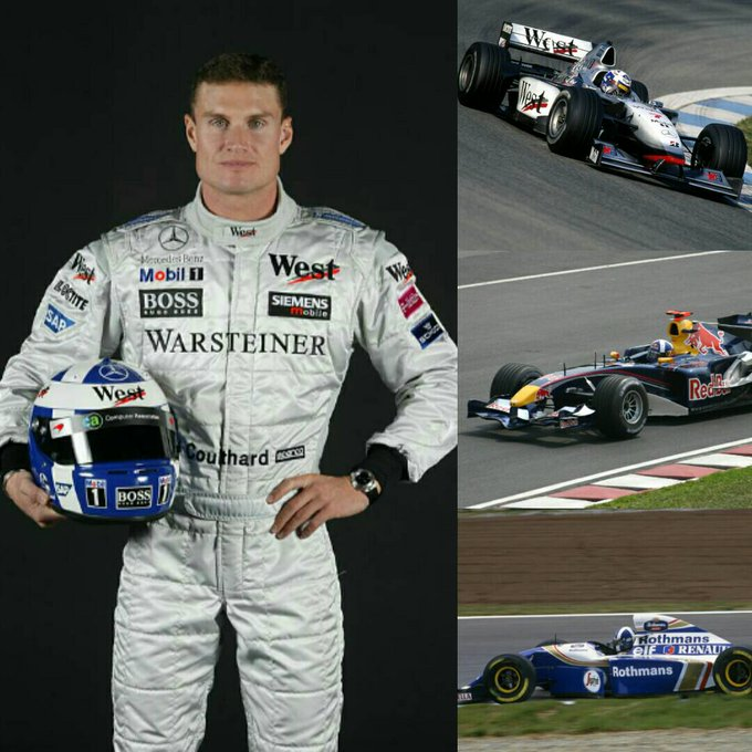 - Happy 47th birthday to former Williams, McLaren and Red Bull driver, David Coulthard, !