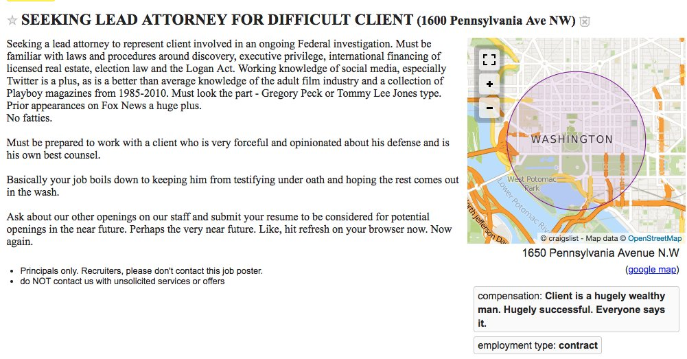 Igor Bobic On Twitter Omg Someone Put Up A Craigslist Ad In Dc