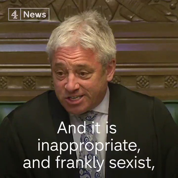 That time John Bercow severely reprimanded Boris Johnson for sexism #NotMyPM