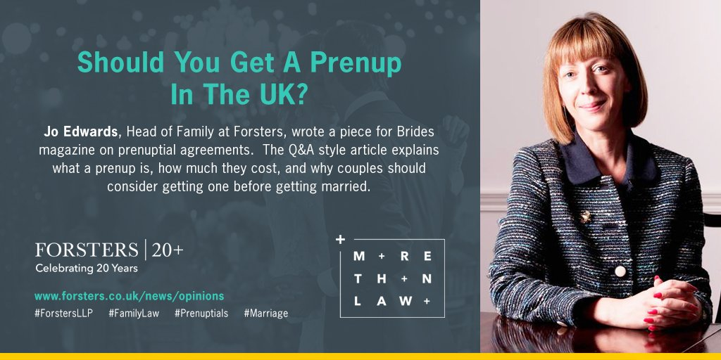 Forsters Llp On Twitter Should You Get A Prenup In The Uk Jo