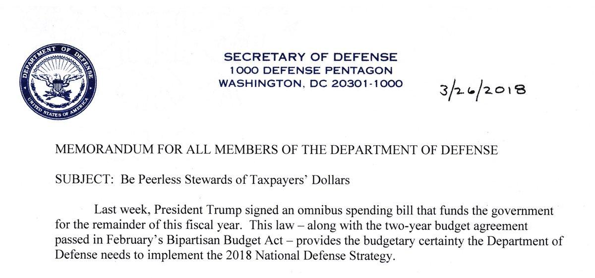 Dana W White Dod On Twitter The Omnibus Spending Bill Signed By