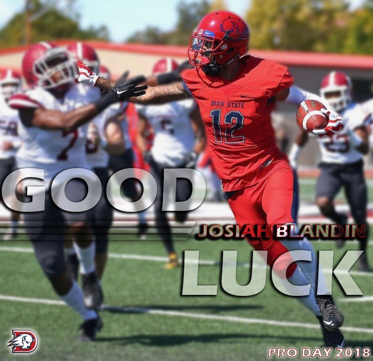 Dixie State Football On Twitter Good Luck To Josiah Blandin Amate