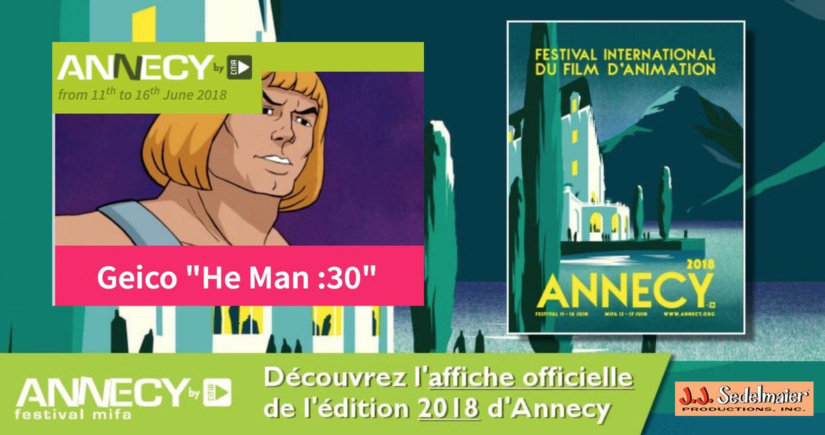 J.J. Sedelmaier Productions, Inc. makes Annecy Festival Official Selection with GEICO He Man :30 ! annecy.org/programme/inde… @GEICO @themartinagency @annecyfestival @AnimationMag @ASIFAEast @ASIFAHollywood @ASIFA_Intl