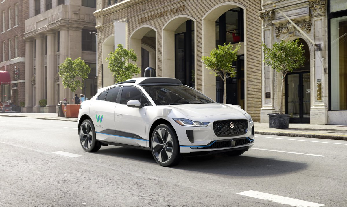Introducing the Waymo #Jaguar #IPACE, a new partnership with @Waymo to develop the world's first premium self-driving electric vehicle for driverless transportation. https://t.co/zf1UabcGnz