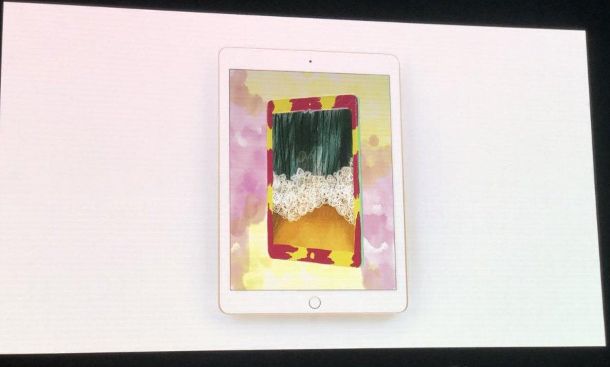 新しいiPadが発表されました! ・9.7インチ ・299ドル ・Apple Pencil対応 https://t.co/8mY7TLEKQE