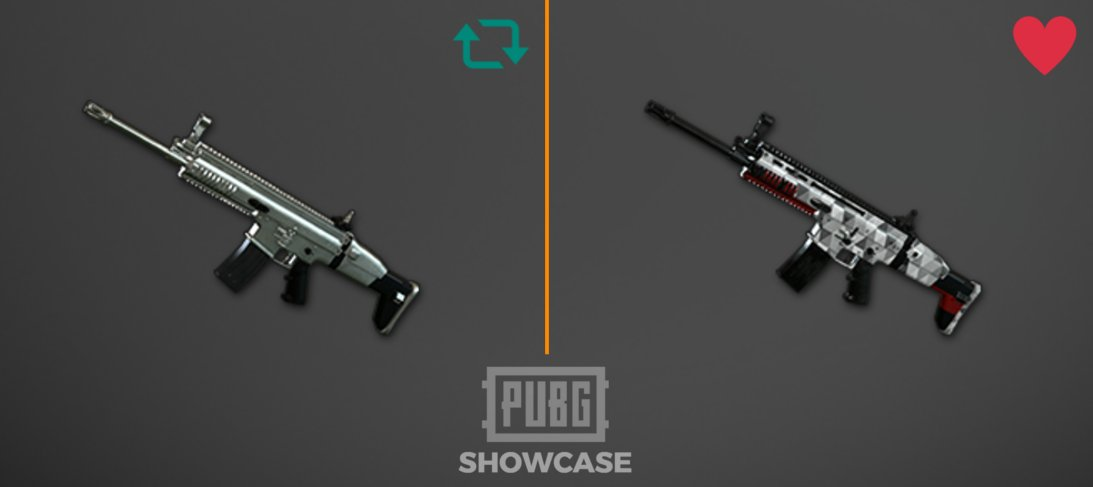 """All Pubg Weapons Skins How To Get Them: PUBGShowcase On Twitter: """"Which One Of The SCAR-L Skins Do"""