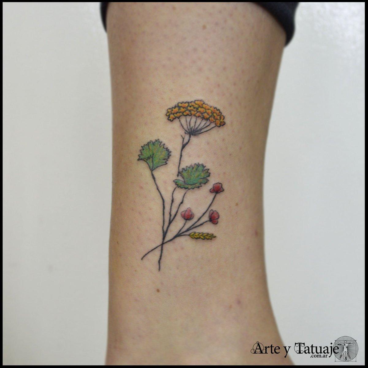 Arte Y Tatuaje On Twitter Tatuaje Personalizado Rama De Anís
