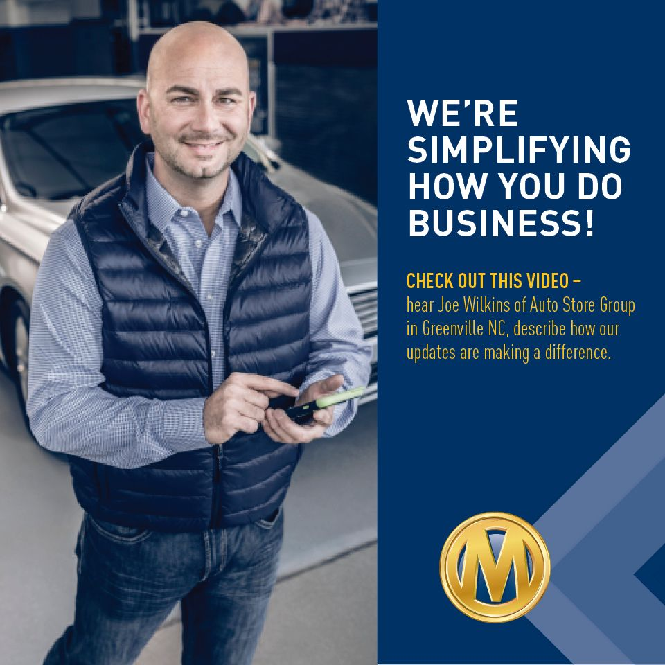 manheim nj on twitter we re simplifying how you do business check out this video of joe wilkins of auto store group in greenville nc to see how our updates are making a difference twitter
