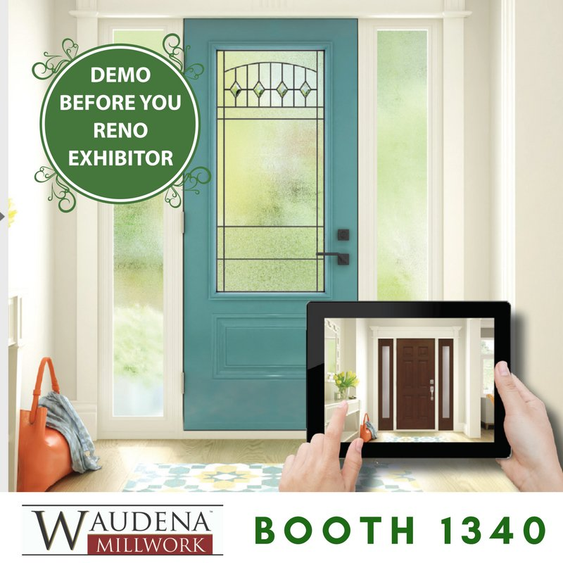 You'll be able experiment with the latest in #Exterior door styles to bring your #entryway ideas to life! Find us at Booth 1340.