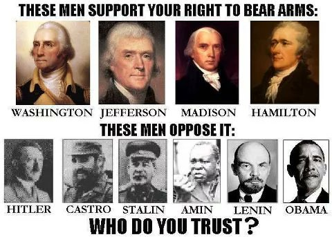 Who do you trust? Main stream media? Hollywood uneducated elites? Children influenced by socialized education? Stalin? Castro? Lenin?  We will NOT Repeal the Second Amendment but we have always known that is the true goal of regressive left  #MAGA #TuesdayThoughts #Trump