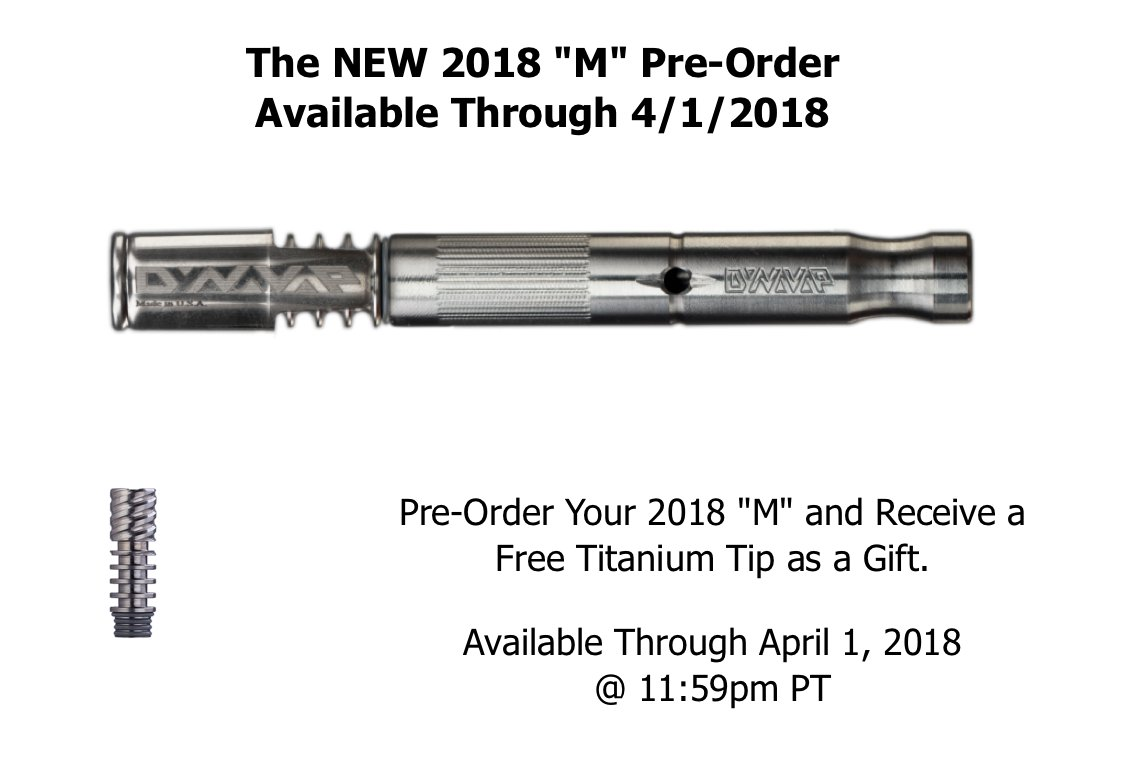 NEW DynaVap 2018 quotMquot Vaporizer in 2019 accessories Office