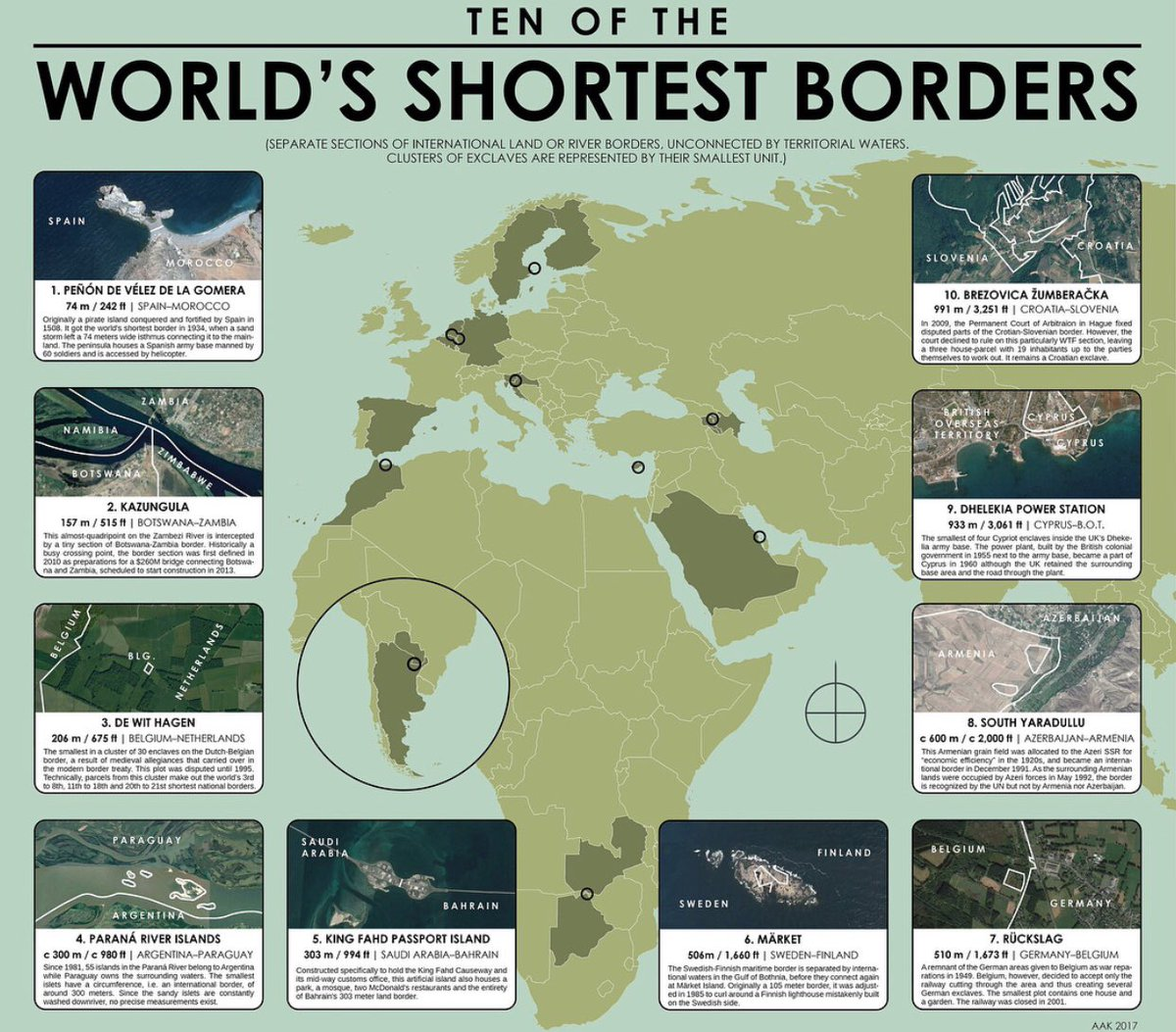 Paul b barby on twitter cool map i found highlighting some of paul b barby on twitter cool map i found highlighting some of the shortest borders in the world the shortest being pen de vlez de la gomera between gumiabroncs Image collections