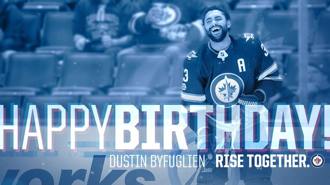 We all already know this, but...  3  3  looks GOOD on you Buff!  Happy Birthday to Dustin Byfuglien!