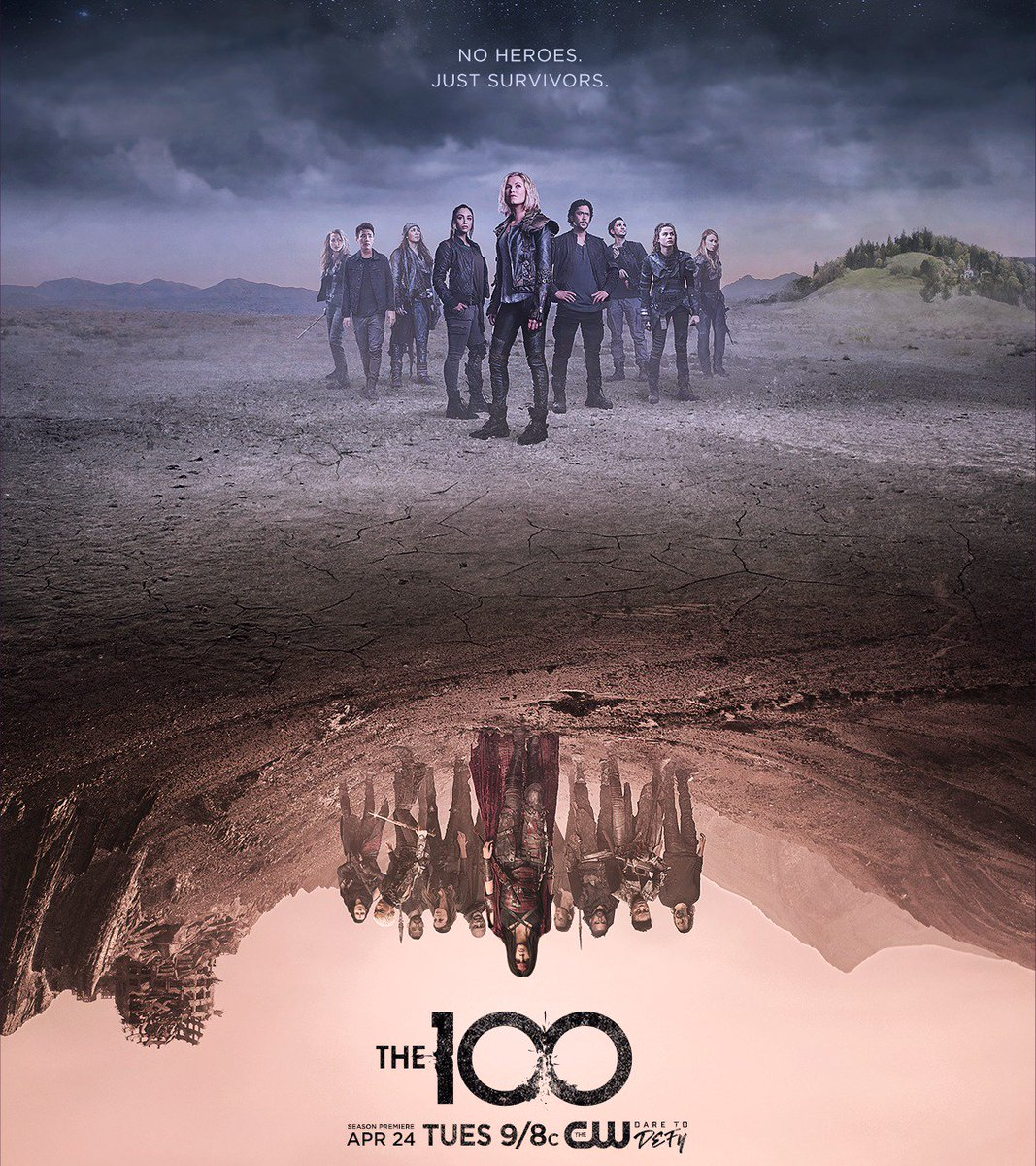 No heroes. Just survivors. #The100 returns Tuesday, April 24 on The CW! https://t.co/Hj1tOSwhKv