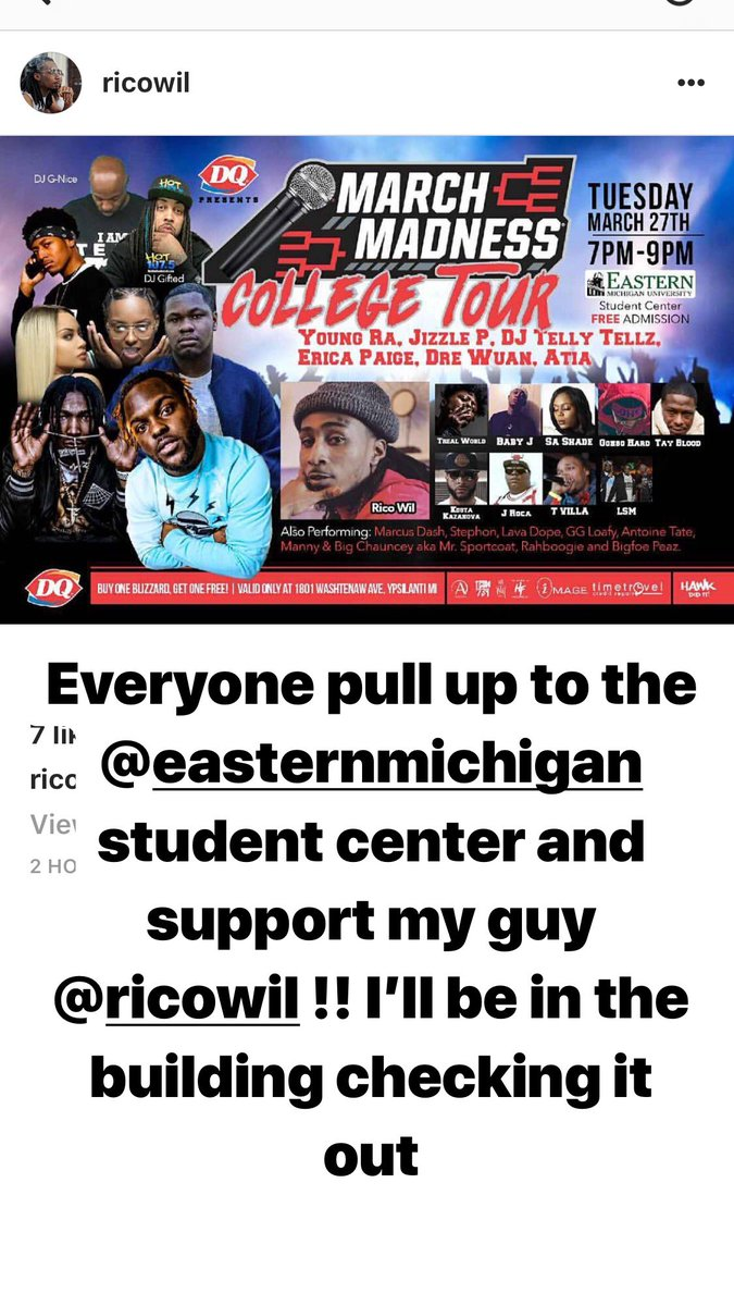 @EasternMichU I'll be in the building to...