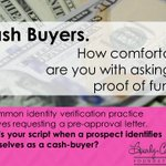 Handling prospect objections is easier said than done.  How diligent are you about obtaining proof of funds for unknown cash buyers?  #Realtor #Safety #RealtorSafety