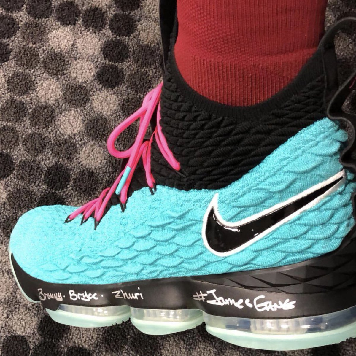 35c4c956a7d kingjames pulled out a south beach lebron 15 for tonights game in miami  lebronwatch