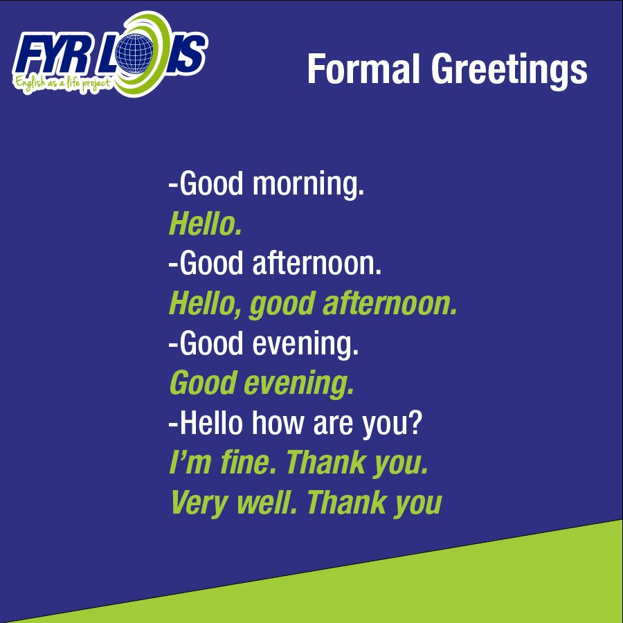 Fyr Lois Corporation On Twitter When Greeting Someone It Is