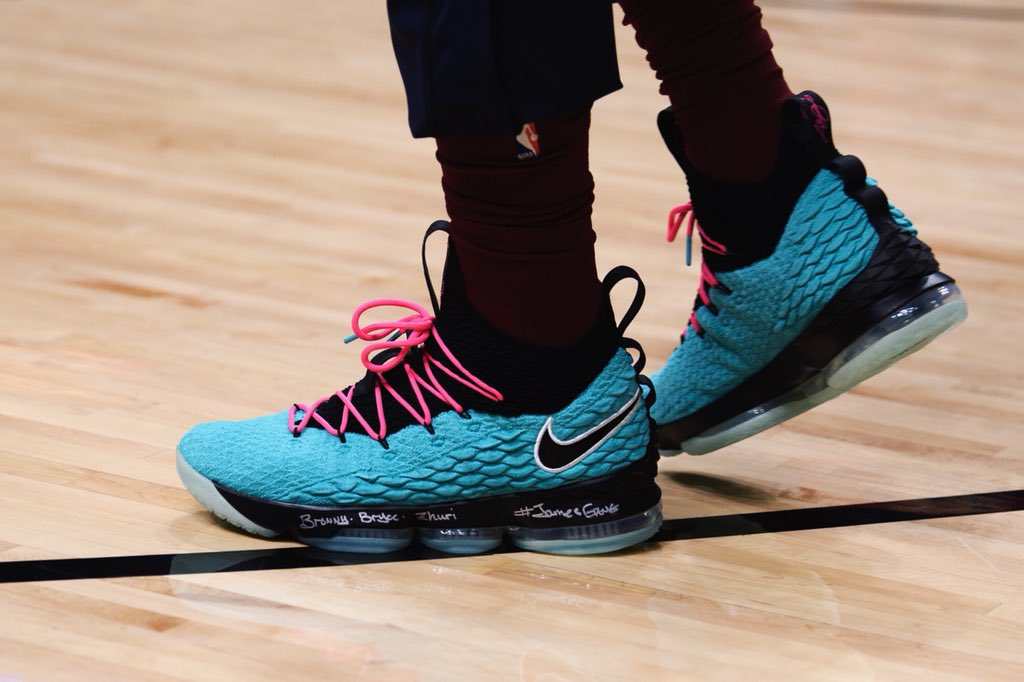 7363c370dc3d lebron james debuts the nike lebron 15 south beach in miami and is currently  only made
