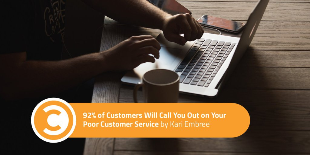 92 Percent of Customers Will Call You Out on Your Poor Customer Service https://t.co/hdz4aNBnG7 https://t.co/lQaLWEQF2R