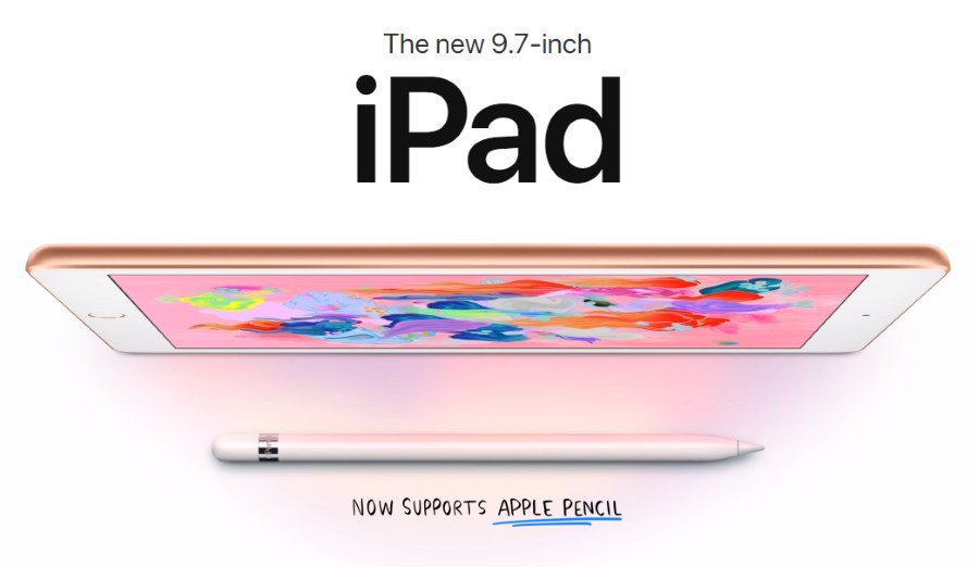 Apple Launched Cheapest 9.7 inches iPad (2018) with Pencil support