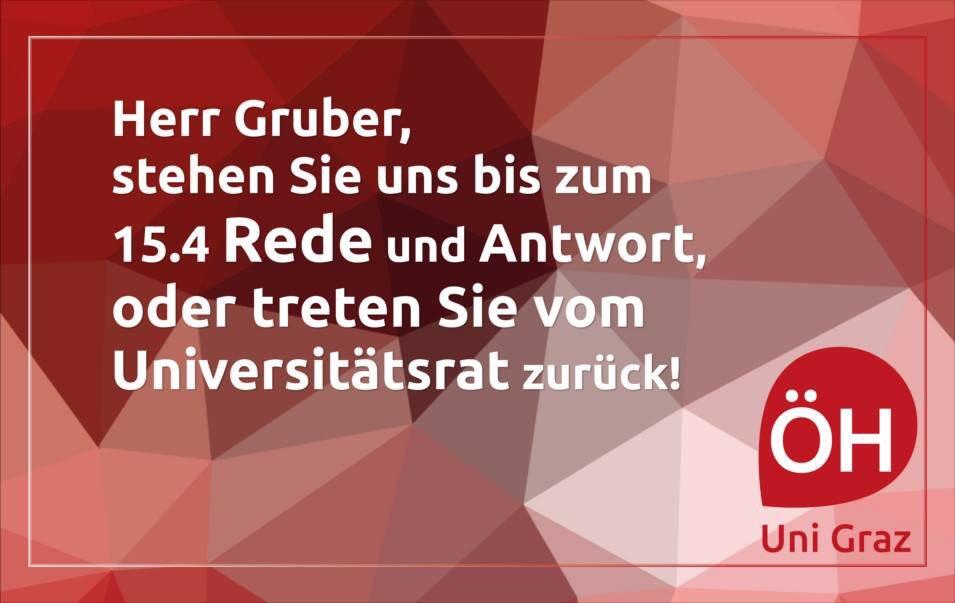 öh Uni Graz On Twitter Herr Gruber äußern Sie Sich Bis