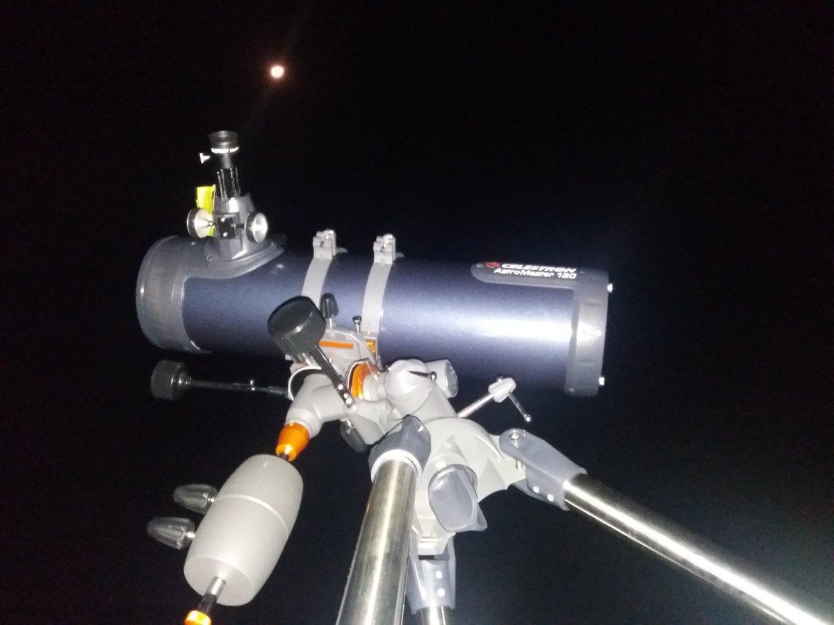 Celestron astromaster eq md reflector telescope with motor