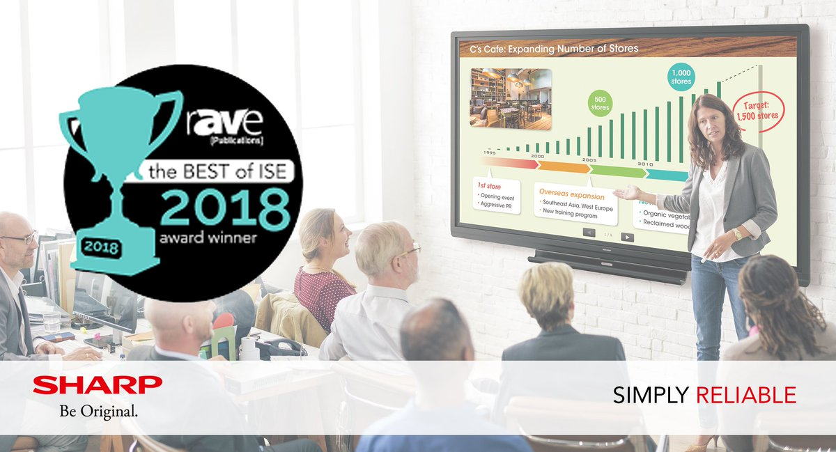 Awards Googl 6doiWo ISE2018 Europe 4K UHD TouchBoard Interactive Whiteboard IWB Sharp Mea Collaboration Digital