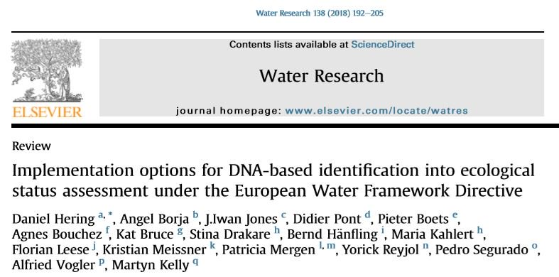 Elsevier aquaticsciences twitter learn about dna based identification for ecologicalstatus assessment under the wfd httpsauthorselseviera1wnt09pi ifs6 picitter platinumwayz