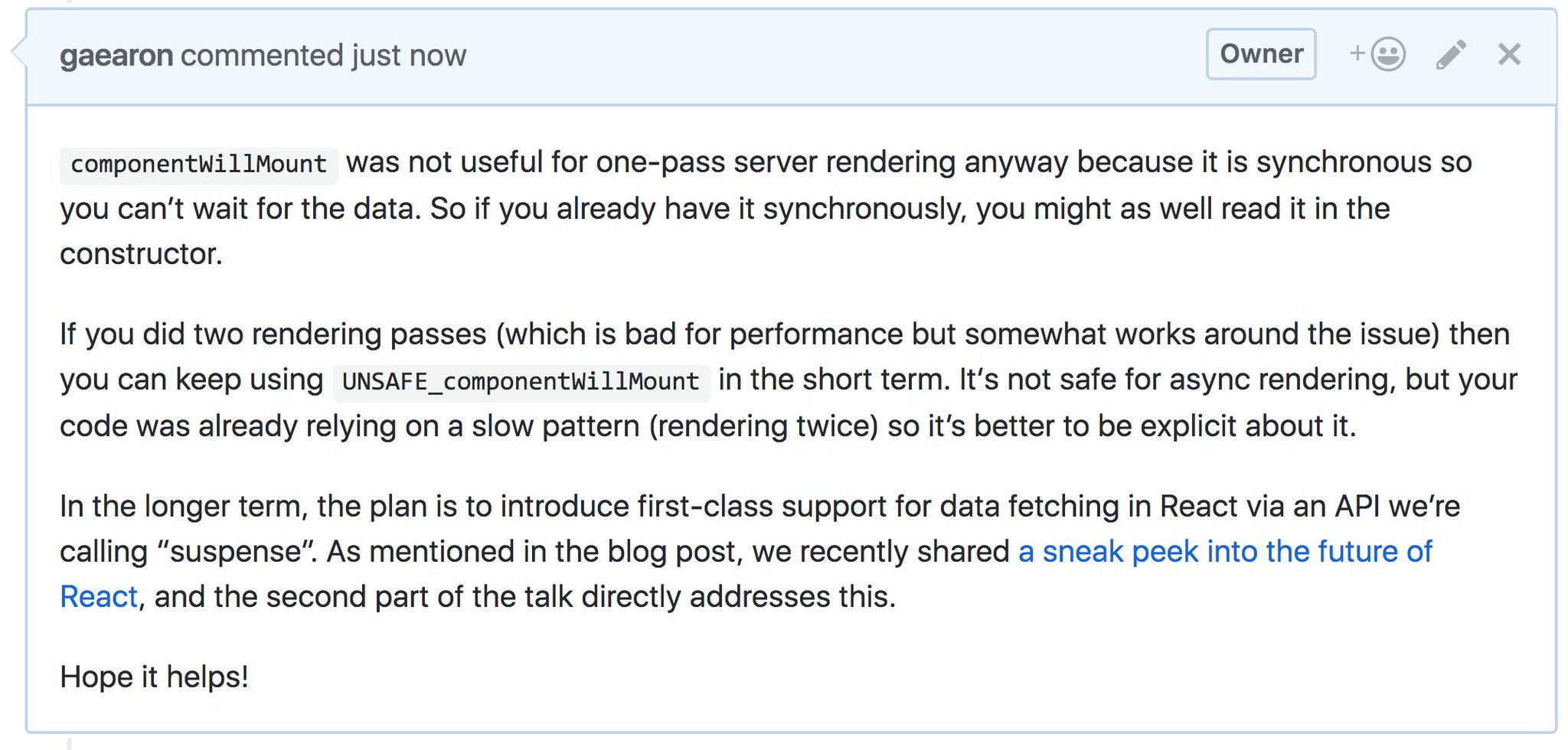 Problematic React Lifecycle Methods are Going Away in React