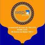 🍻 Afterwork @IsepAlumni ! 🗓 Aujourd'hui 😀 ⏰ 19h - 21h 📍 Maine Café - 88 avenue de Maine 75014 Paris
