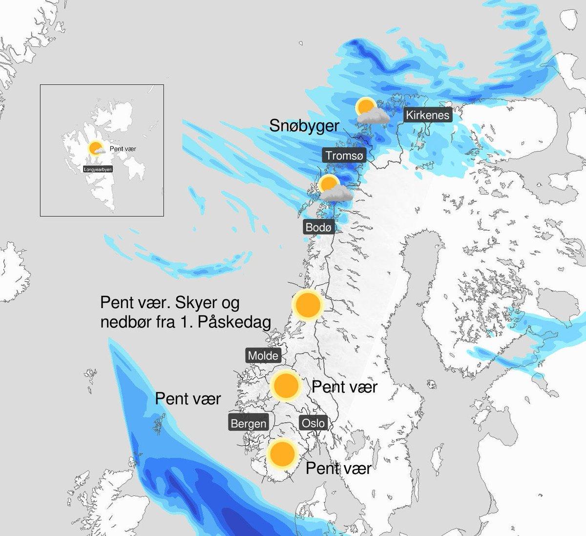 Meteorologene On Twitter Paskevaeret Kort Oppsummert Det Blir